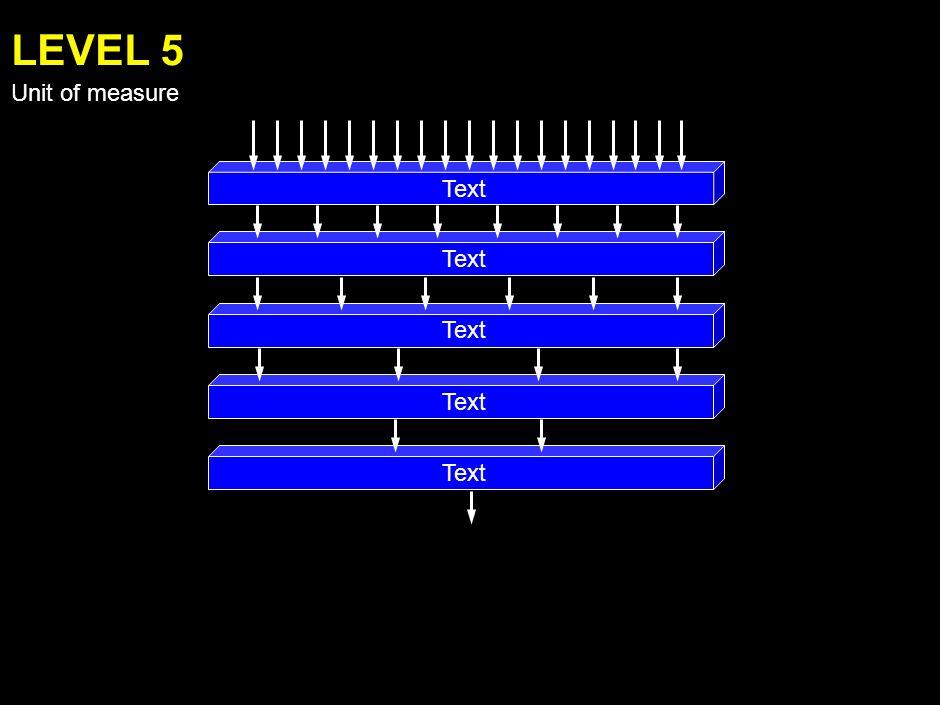 Text LEVEL 4 Unit of measure