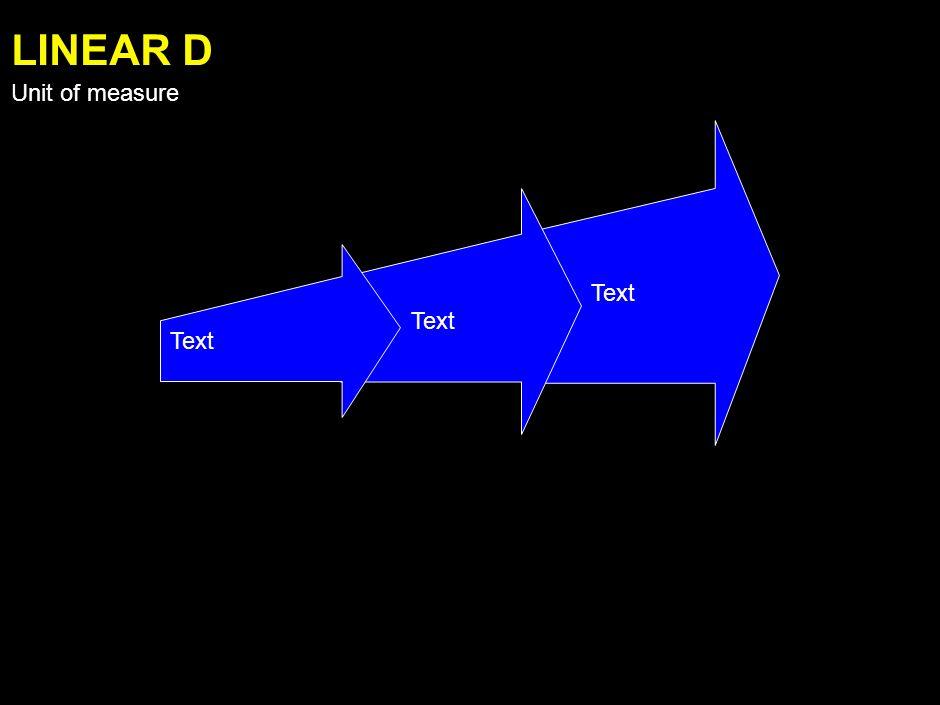 Text LINEAR C Unit of measure
