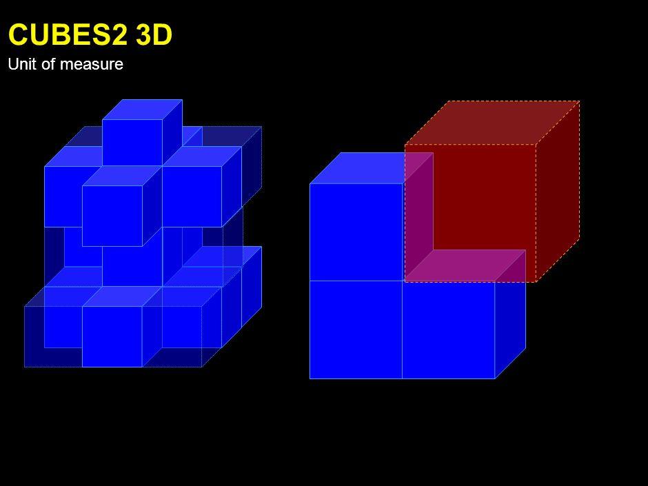 CUBES1 3D Unit of measure