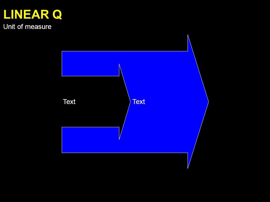 Text LINEAR P Unit of measure