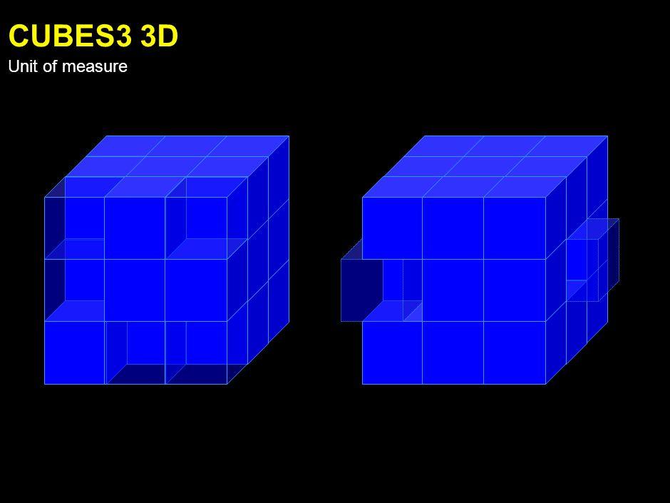 CUBES2 3D Unit of measure
