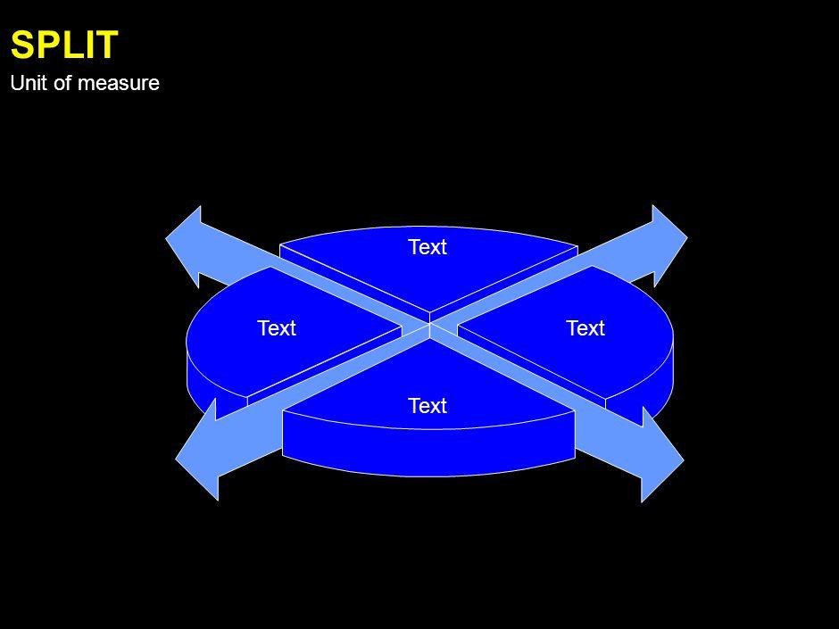 Text PARALLEL Unit of measure