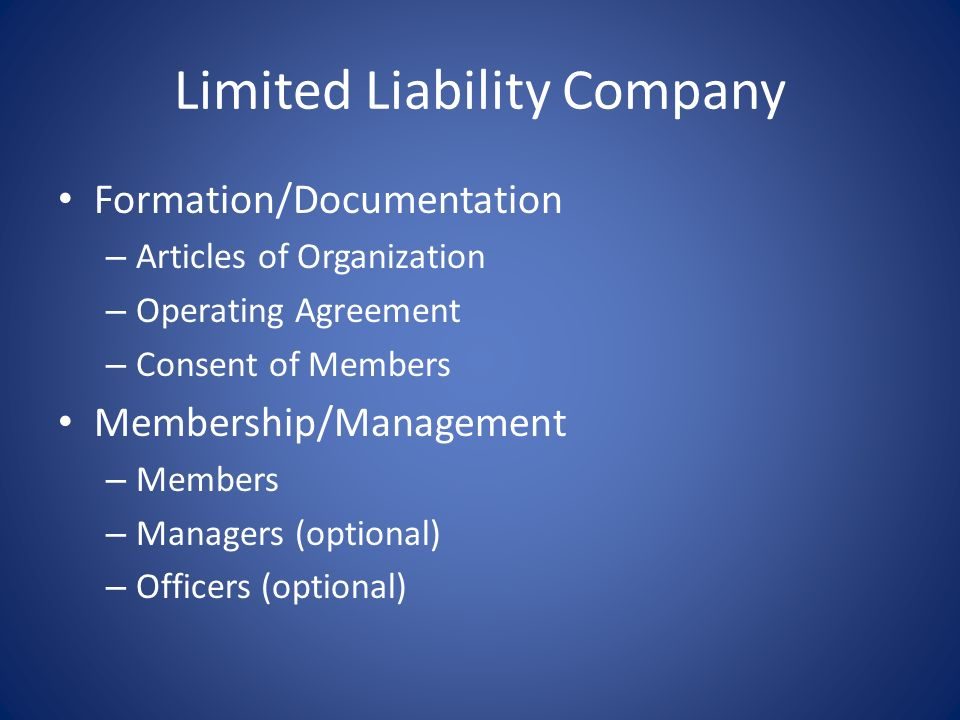 Corporations Disadvantages – Strict procedural requirements Annual meetings, record keeping, use title & seal, etc. Pierce the corporate veil – Admini