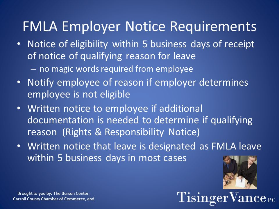 Length of Leave Eligible for up to 26 work weeks of FMLA leave to care for a recovering service member. Eligible for up to 12 work weeks of FMLA leave