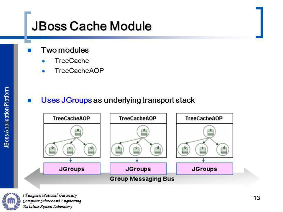 Chungnam National University Computer Science and Engineering Database System Laboratory JBoss Application ServerJBoss Application Platform JBoss Cach
