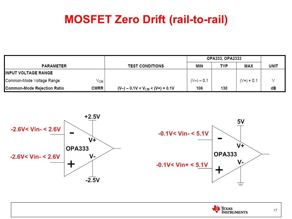 17 MOSFET Zero Drift (rail-to-rail)