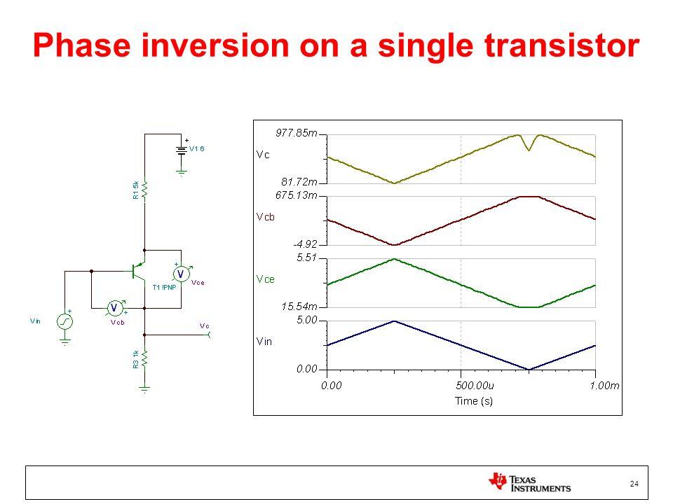 24 Phase inversion on a single transistor