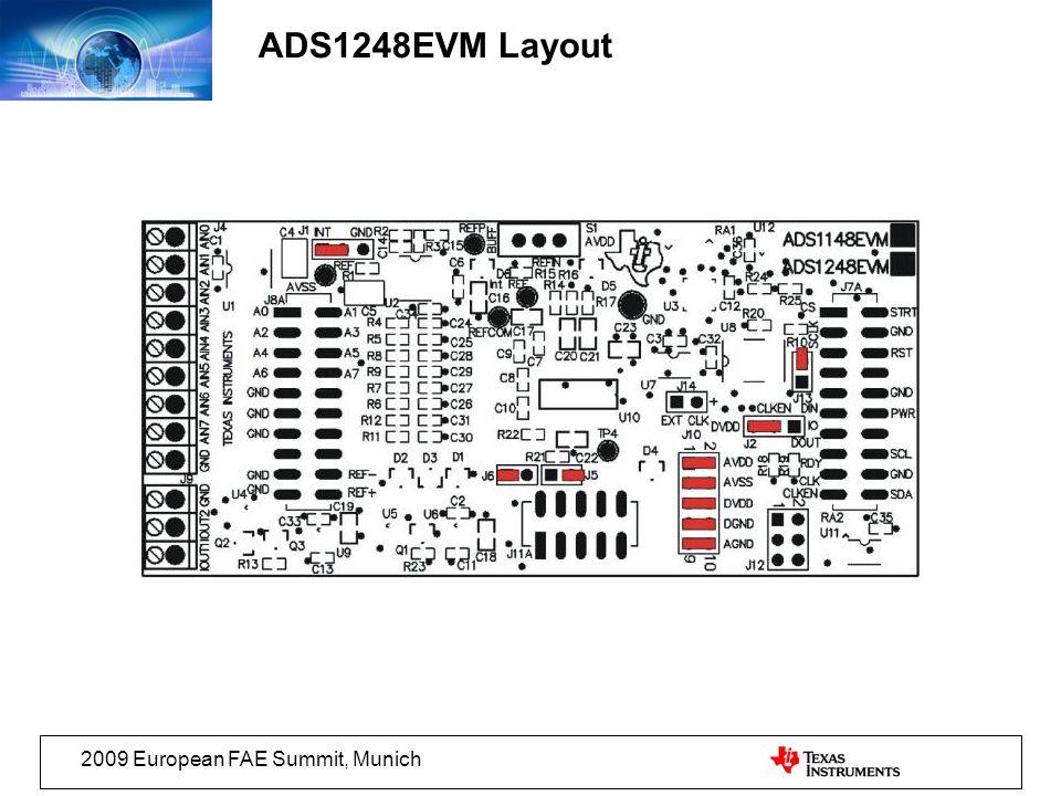 2009 European FAE Summit, Munich ADS1248EVM Layout