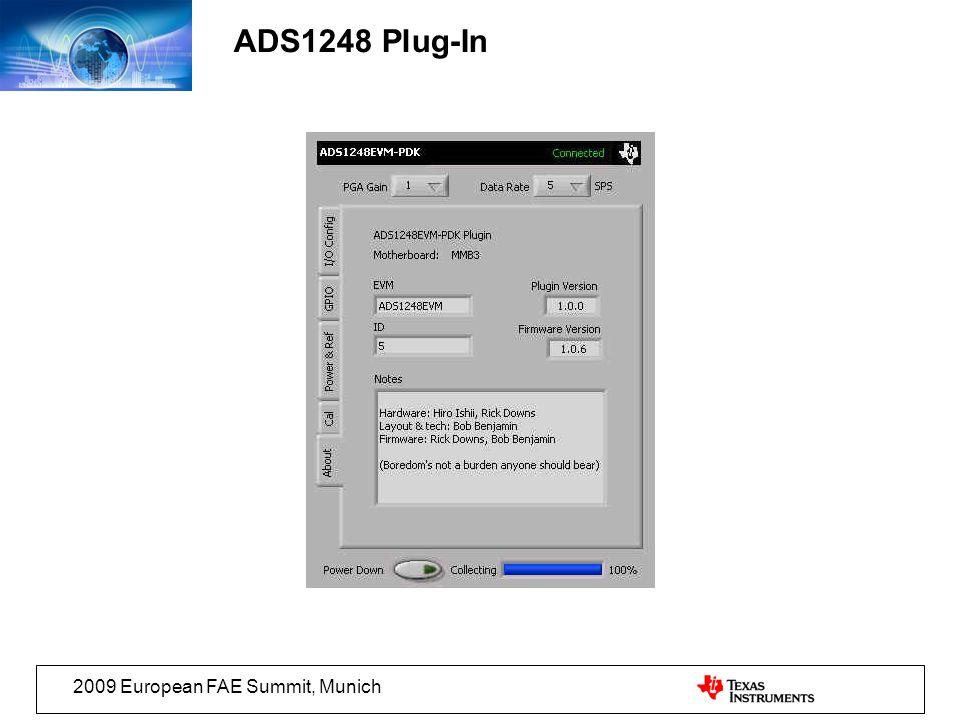 2009 European FAE Summit, Munich ADS1248 Plug-In