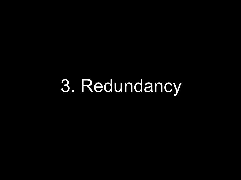 3. Redundancy