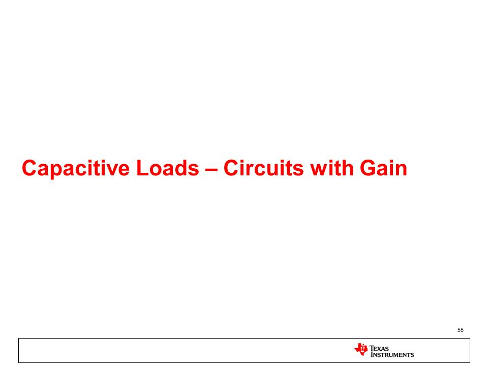 55 Capacitive Loads – Circuits with Gain