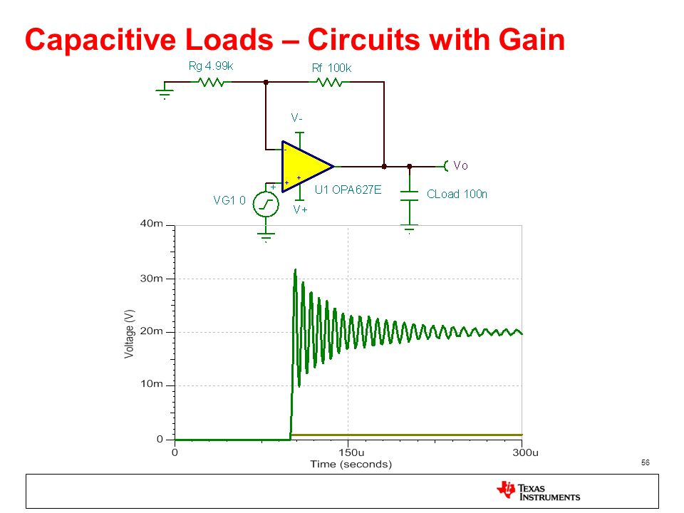 56 Capacitive Loads – Circuits with Gain