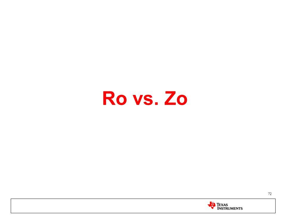 72 Ro vs. Zo
