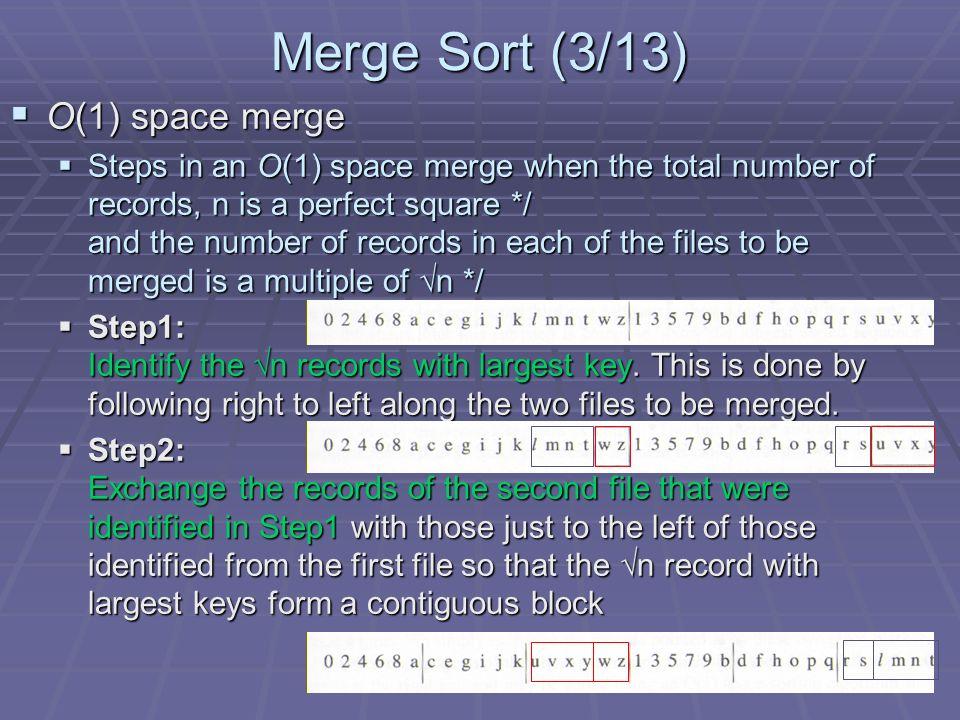 Merge Sort (10/13) Recursive merge sort concept Recursive merge sort concept