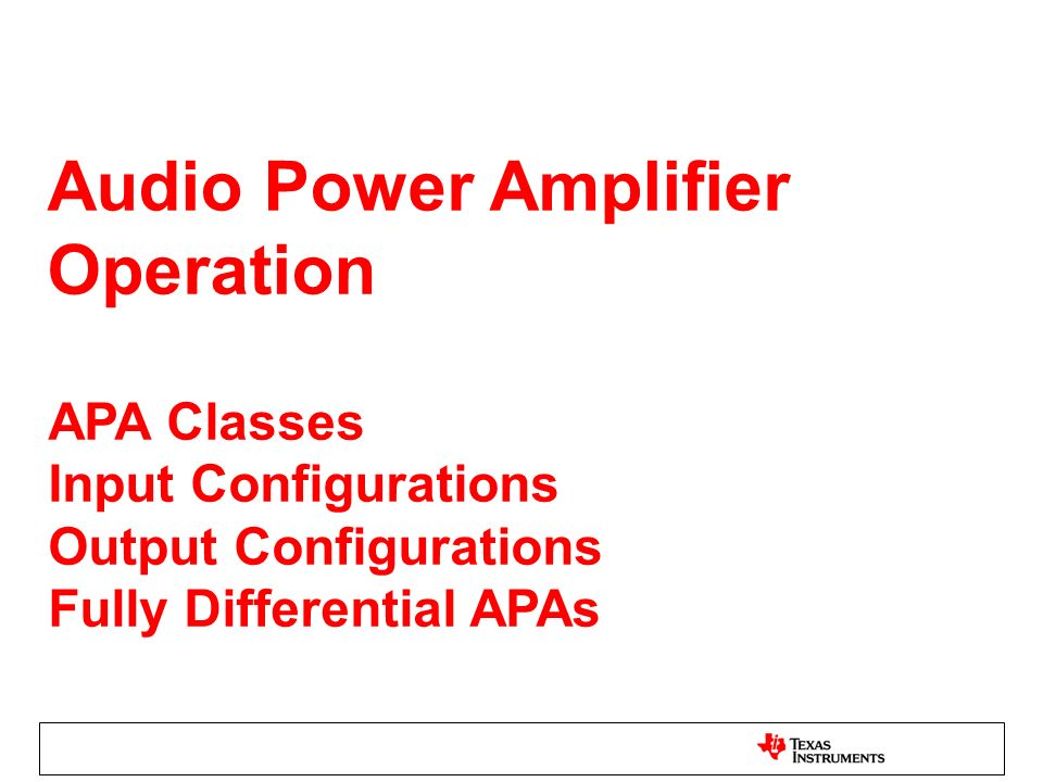 AD Modulation Ripple Current Without the LC filter, AD modulation ripple current wastes power and may increase the power handling requirement of the speaker.