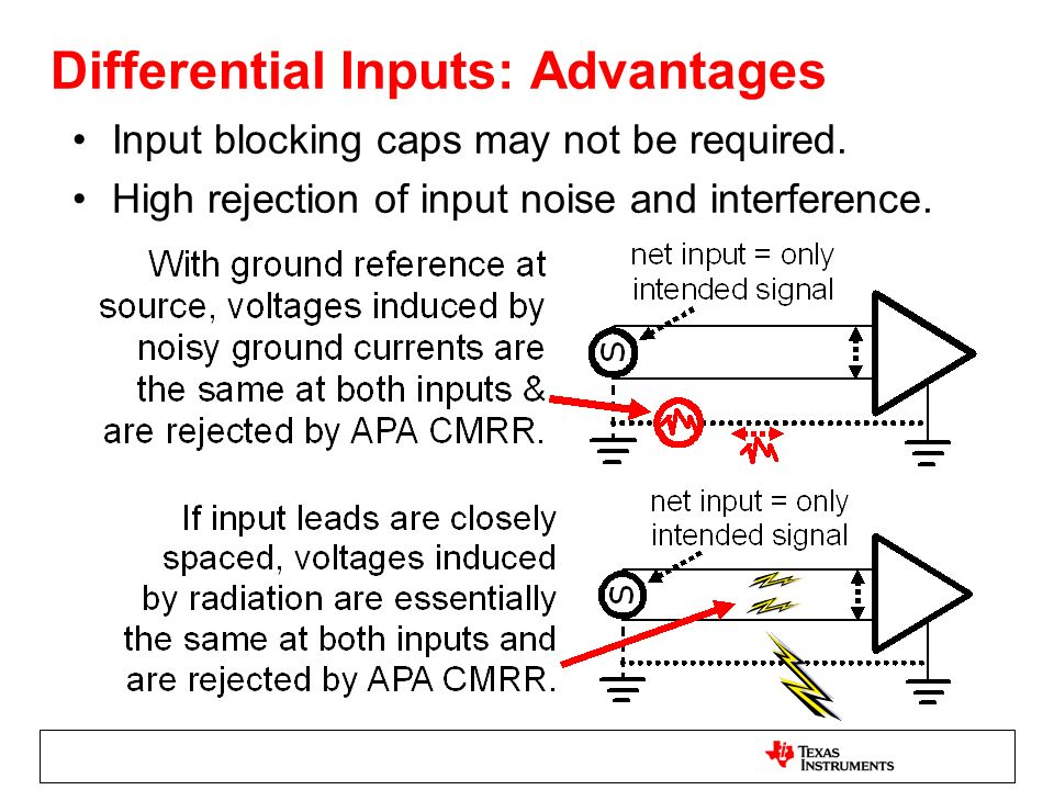 Differential Inputs Contd.