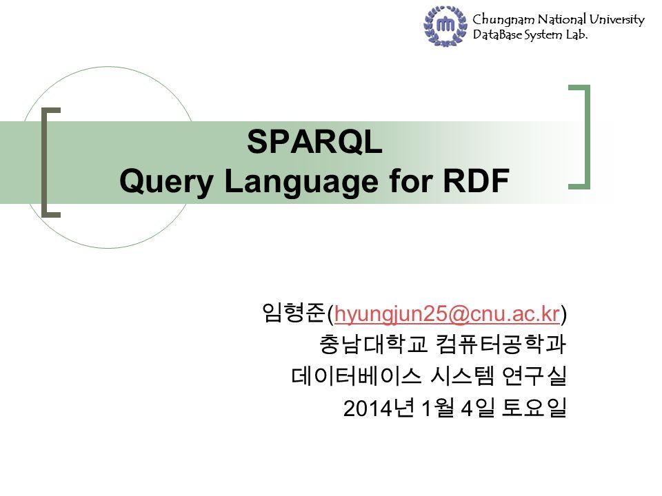 Chungnam National University DataBase System Lab.