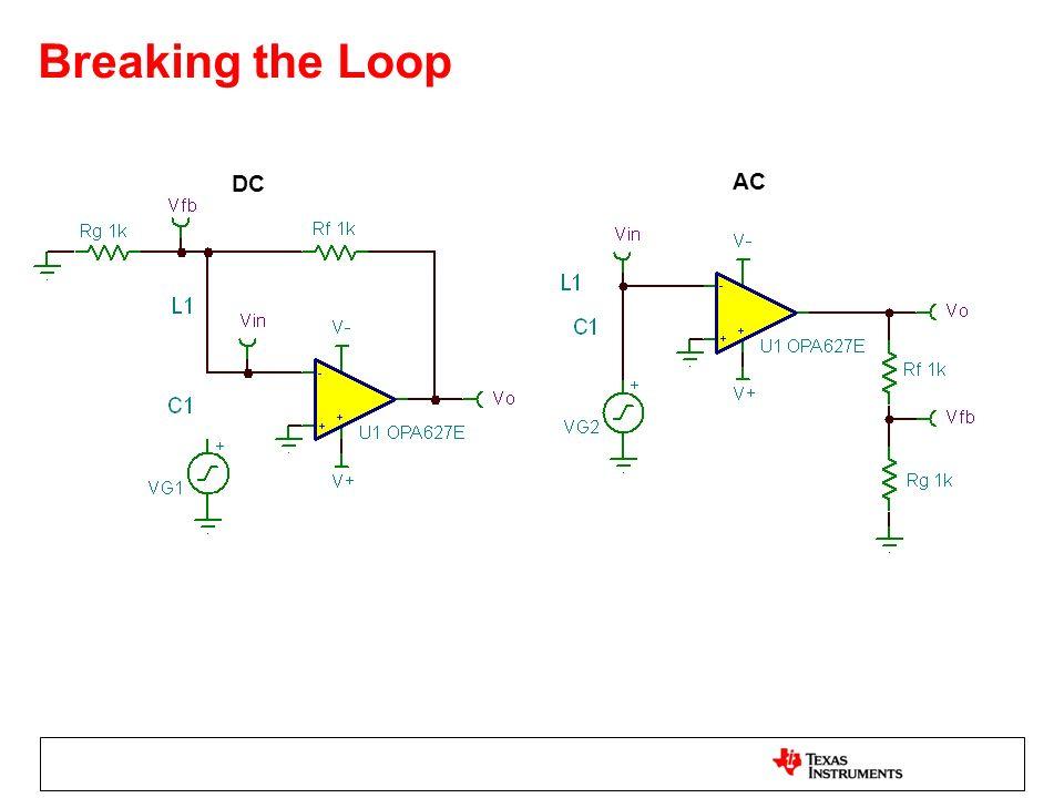 Breaking the Loop DC AC