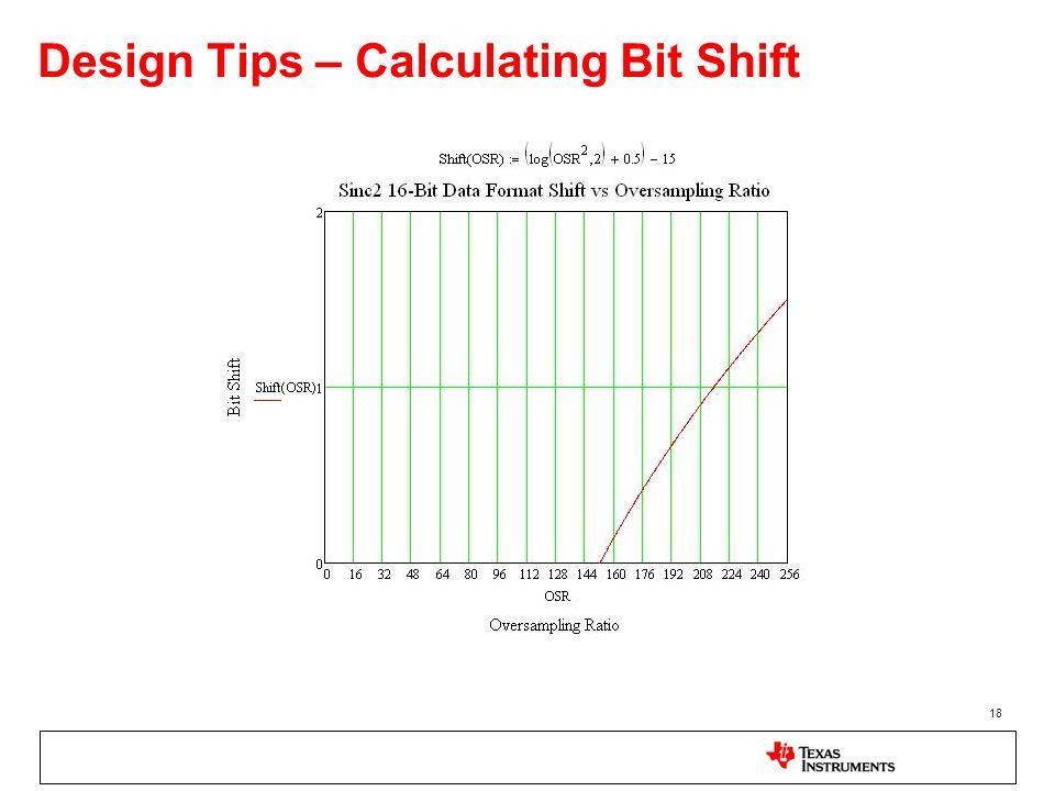 18 Design Tips – Calculating Bit Shift