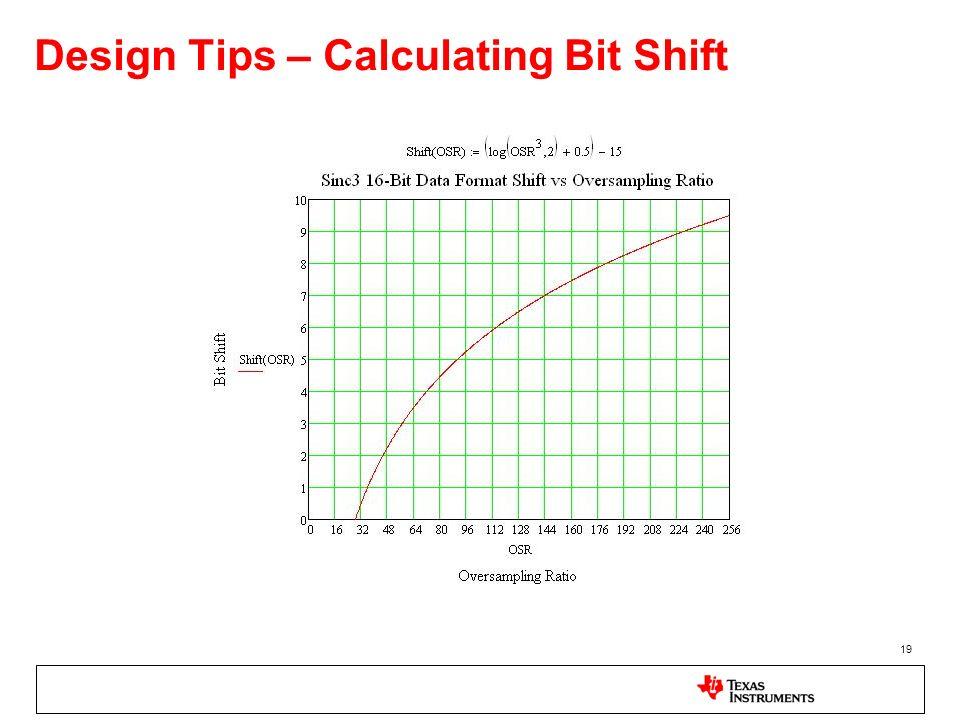 19 Design Tips – Calculating Bit Shift