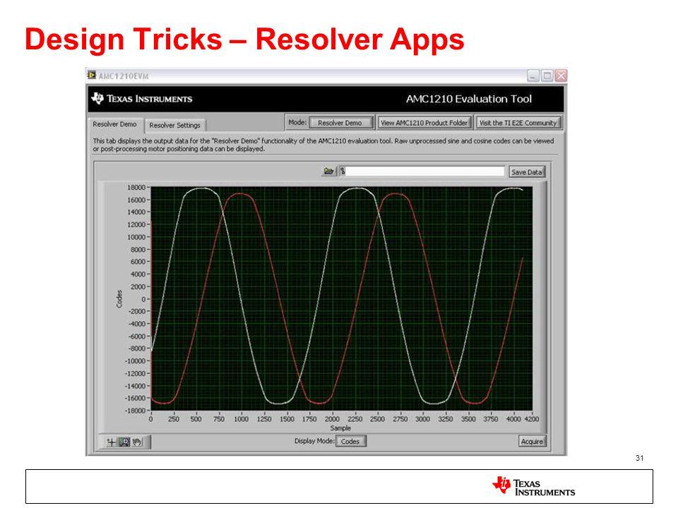 31 Design Tricks – Resolver Apps