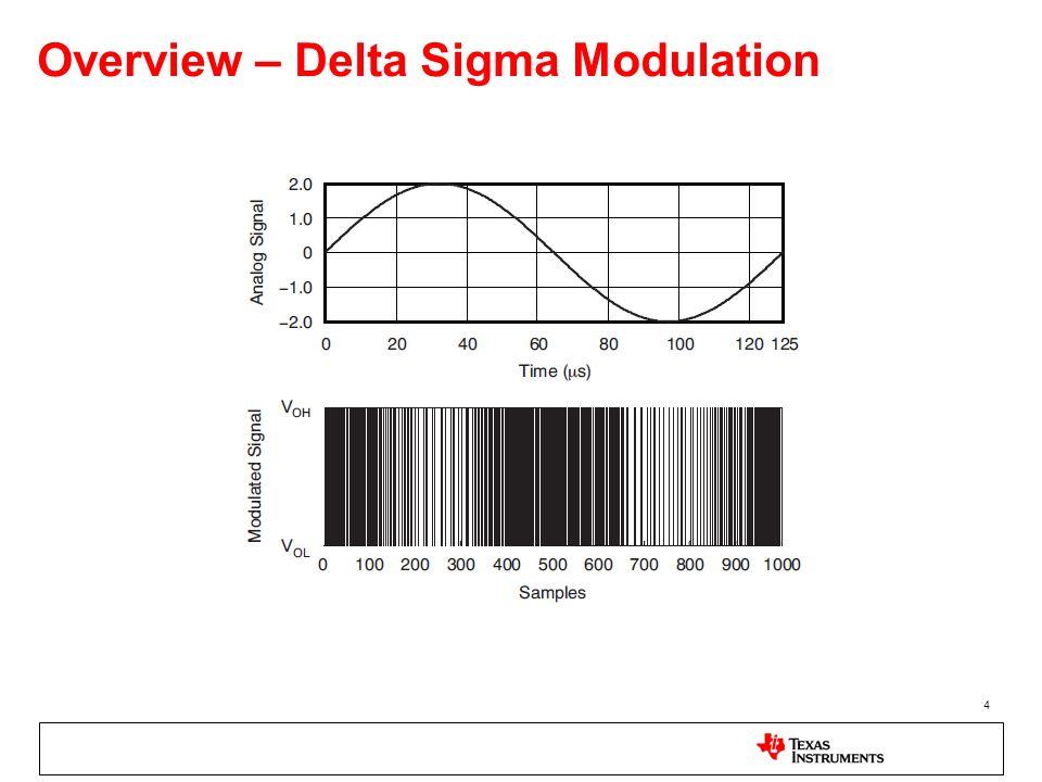 4 Overview – Delta Sigma Modulation