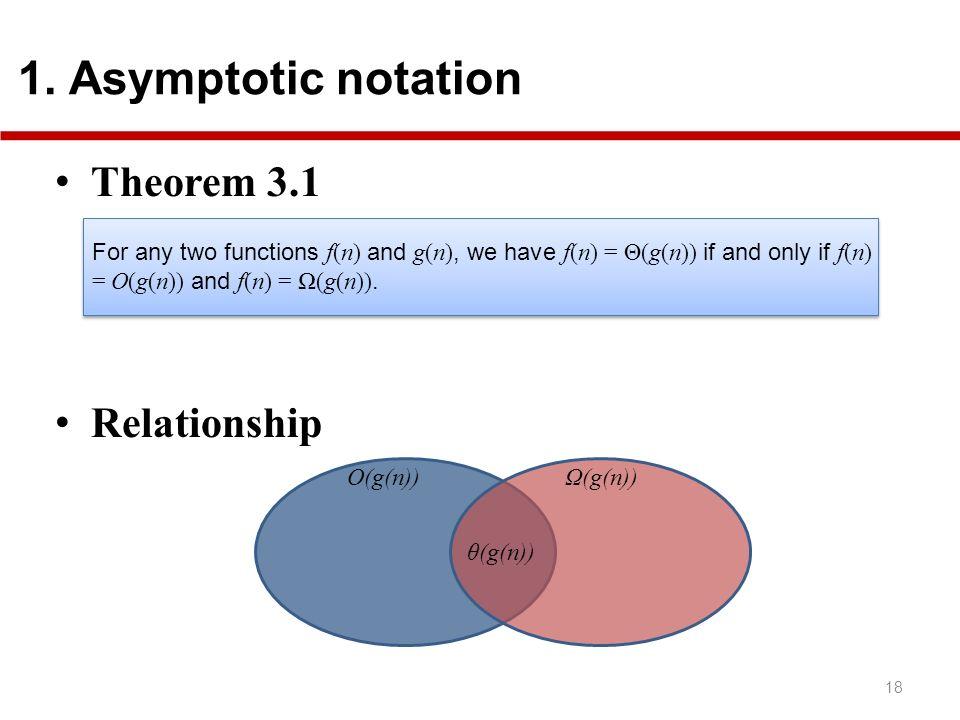 Theorem 3.1 Relationship 18 1.