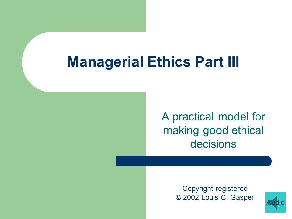 Prof.Gaspers decision model 1. Establish the facts 2.