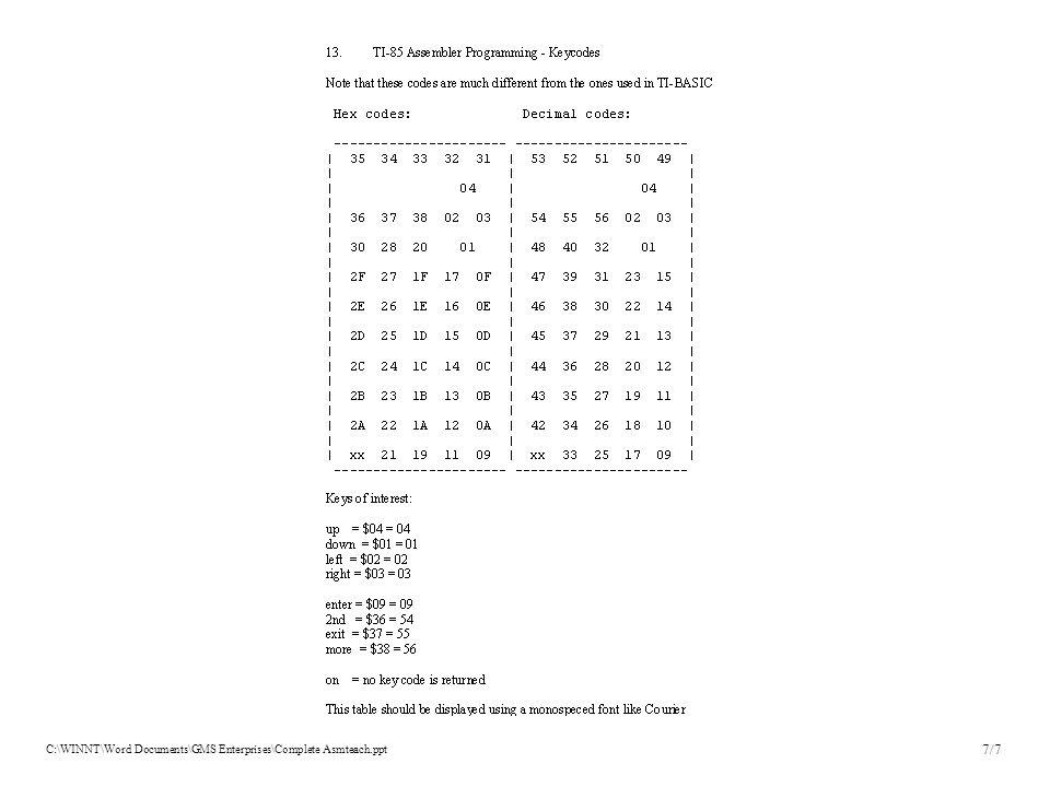 C:\WINNT\Word Documents\GMS Enterprises\Complete Asmteach.ppt 7/7