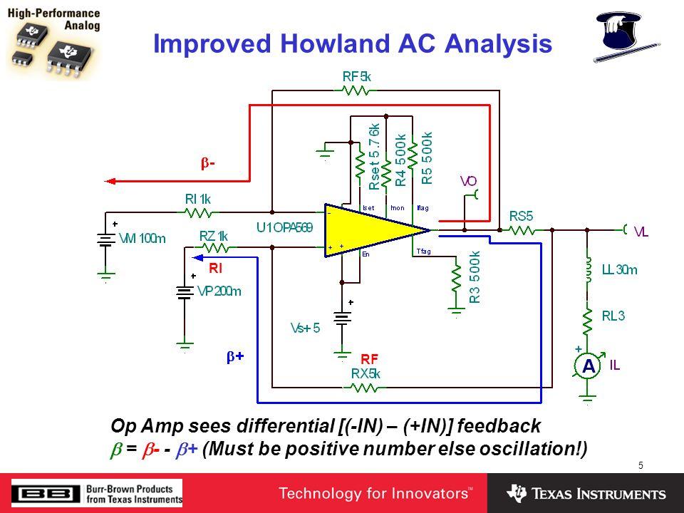 6 Improved Howland AC Analysis + -