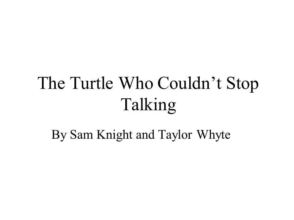 The Turtle Who Couldnt Stop Talking By Sam Knight and Taylor Whyte