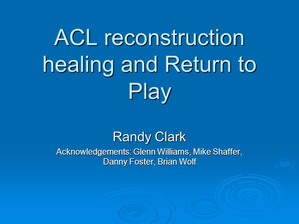 Introduction 100,000 new ACL injuries each year (1/3000 people) 100,000 new ACL injuries each year (1/3000 people) Young women 3 times more likely to suffer an ACL injury compared to a male cohort group Young women 3 times more likely to suffer an ACL injury compared to a male cohort group Young female participating in sports year round has a 5% risk for tearing her ACL Young female participating in sports year round has a 5% risk for tearing her ACL No more than 15- 30% of ACL deficient individuals typically return to running, jumping, and pivoting activities without experiencing subsequent episodes of knee instability No more than 15- 30% of ACL deficient individuals typically return to running, jumping, and pivoting activities without experiencing subsequent episodes of knee instability