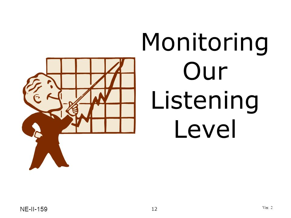 Monitoring Our Listening Level 12 NE-II-159 Ver. 2