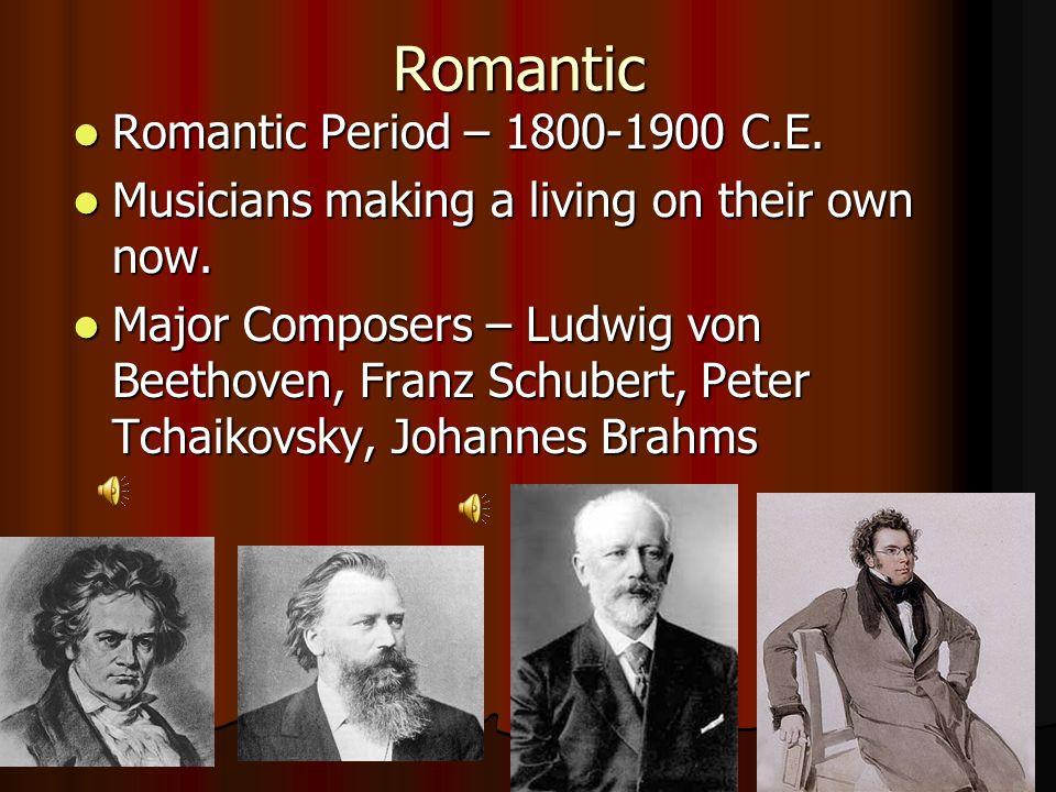 Modern Modern Period – 1900 C.E.– Present Modern Period – 1900 C.E.– Present Classical music led to the development of popular music.