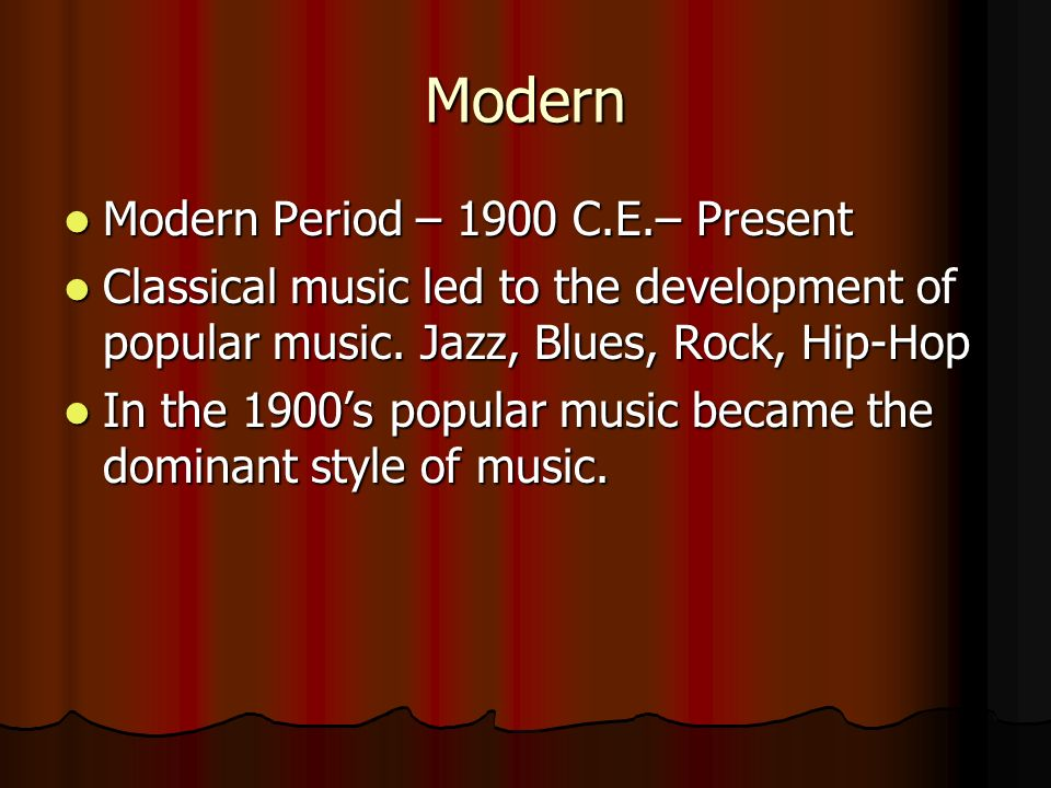 Modern Classical Music Classical music still exists in todays music world Classical music still exists in todays music world It is not as popular with younger generations as pop music is.