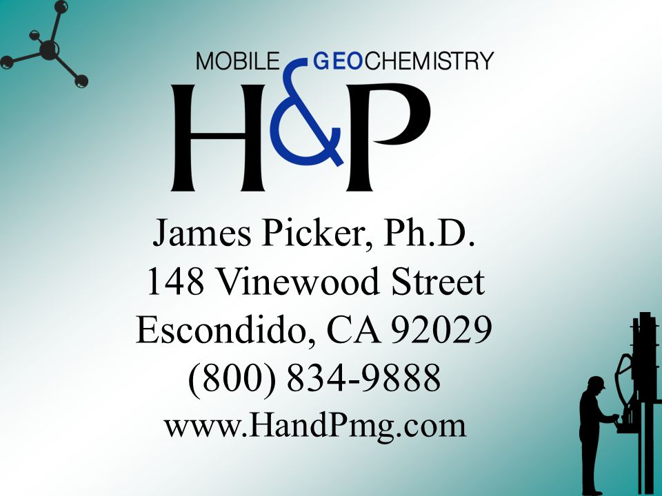 James Picker, Ph.D. 148 Vinewood Street Escondido, CA 92029 (800) 834-9888 www.HandPmg.com