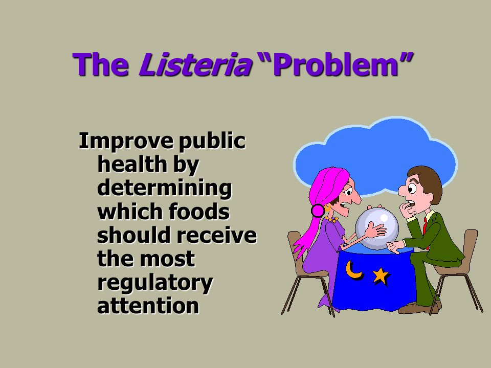 The Listeria Problem Improve public health by determining which foods should receive the most regulatory attention