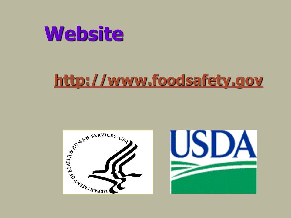Website http://www.foodsafety.gov