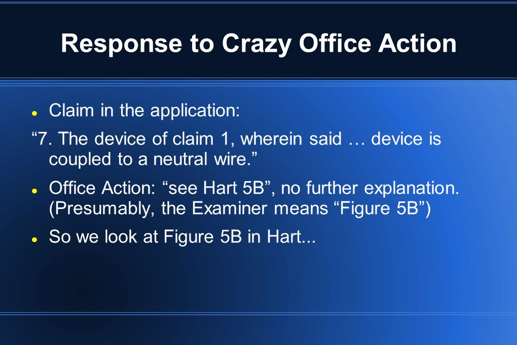 Response to Crazy Office Action Anyone see anything coupled to a neutral wire in that figure.