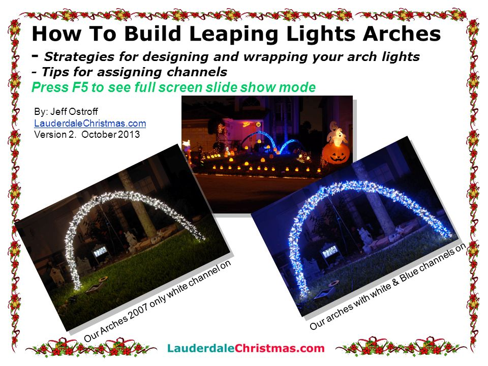 12 Step 10: Start by taping the first set of lights to the PVC pipe about 4 to 6 from the end.