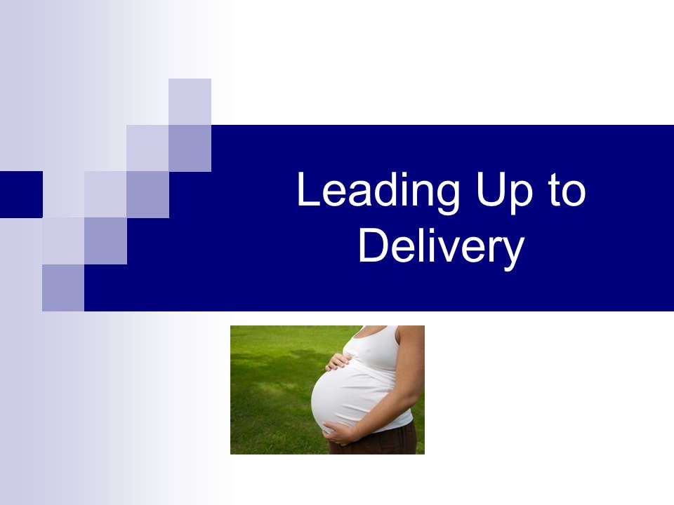 Leading Up to Delivery