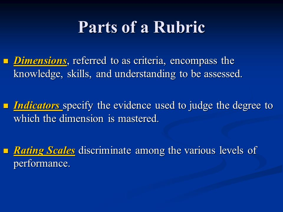 Adapt your rubric to the task at hand.Adapt your rubric to the task at hand.