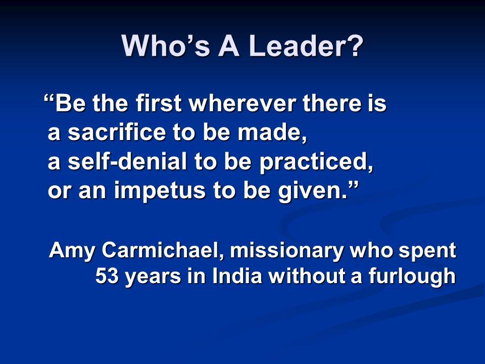 Whos A Leader.