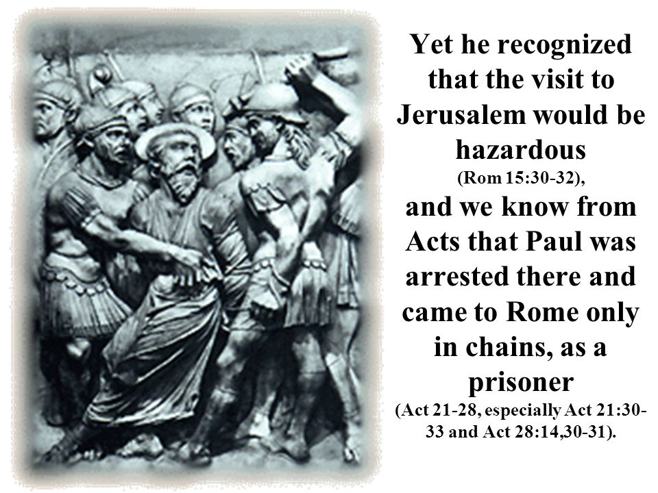 The existence of a Christian community in Rome antedates Paul s letter there.