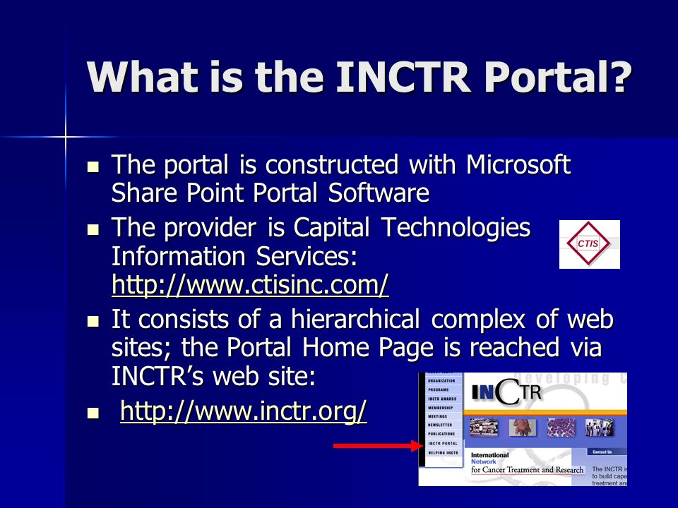 What is the INCTR Portal.