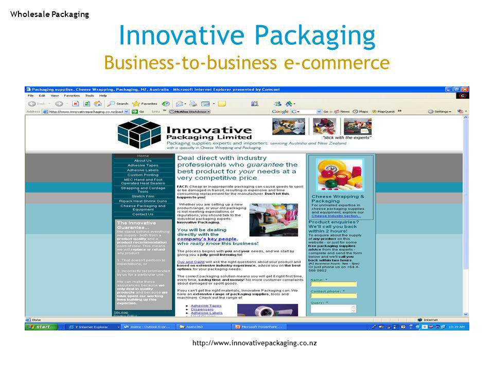 Innovative Packaging Business-to-business e-commerce http://www.innovativepackaging.co.nz Wholesale Packaging