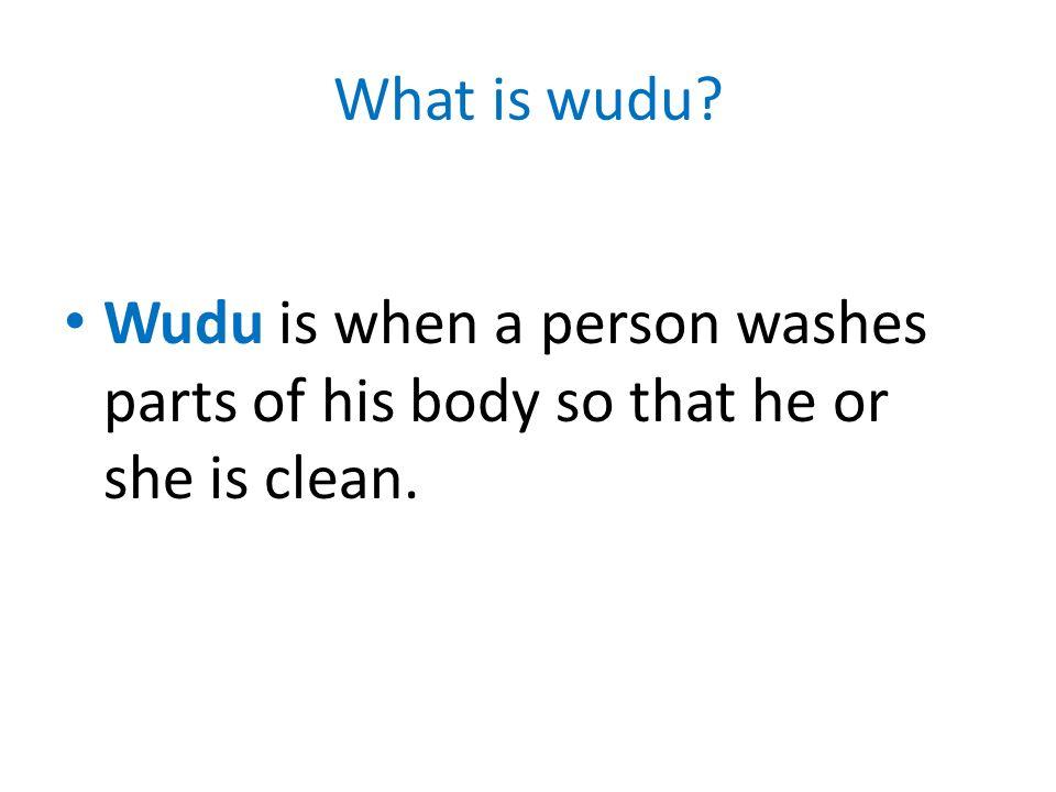 When should we do wudu.