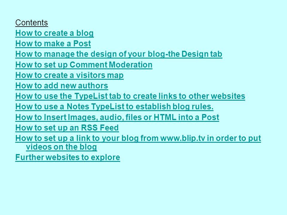 1.Choose a Links TypeList 2.List Name: Useful websites 3.Click on Create New TypeList