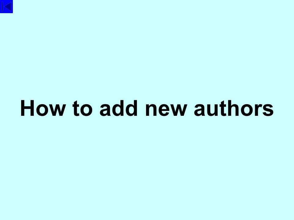 How to add new authors