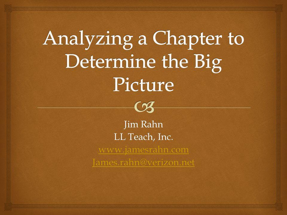 Jim Rahn LL Teach, Inc. www.jamesrahn.com James.rahn@verizon.net